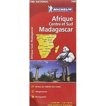Carte NATIONAL Afrique Centre et Sud, Madagascar