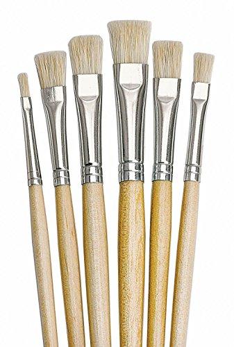 Pinsel Set VBS NATURE 6 Flachpinsel