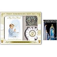 Set regalo Prima Santa Comunione per bambini, con coccarda & libro di preghiera