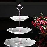 Gemini _ Mall® 3stöckige Kuchenetagère Kuchen Teller Ständer Griff Armatur Hochzeit Party Tisch Dekor rose
