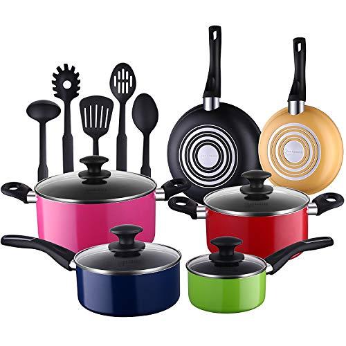 COOKSMARK® Batería Cocina 15 Piezas Juego Ollas
