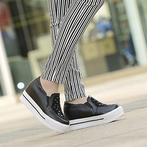 Damen Slipper Atmungsaktive Anti-Rutsch Leichtgewicht Bequeme Lässige Modische Flache Damen Freizeit Halbschuhe Schwarz