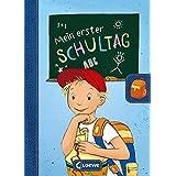 Mein erster Schultag - Jungen: Eintragbuch zur Einschulung für Jungen - Erinnerungsbuch zum Schulstart - Geschenke für die Sc