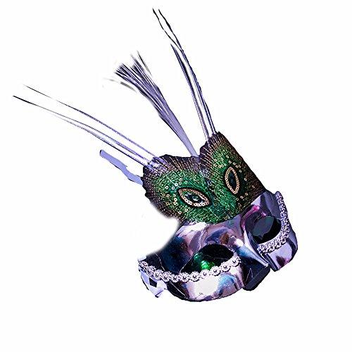 Maskerade,Halloween Kostüm Maske Requisiten für Kinder Party Show Make-up Tanz Show Maske Silber Masquerade