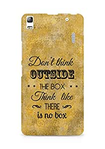Amez Dont think Outside the Box think like there is no Box Back Cover For Lenovo K3 Note