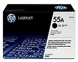 HP 55 - Cartucho de tóner Original HP 55A Negro para HP LaserJet empresarial P3015, P3015d, ...