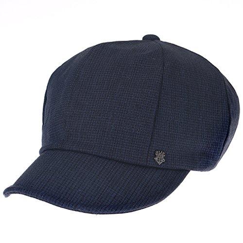 Ililily 8-Panel Plaid Pattern Newsboy Cabbie Cap Duck Bill Flat Hunting Hat