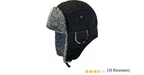 Highlander Cappello Invernale di Pelliccia Small Nero Nero//Carbone