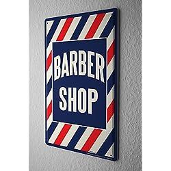 Cartel De Chapa barbería Letrero De Metal 20X30 cm