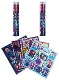 Frozen Die Eiskönigin - 16 tlg. Set 8 Bleistifte mit Radiergummi + 8 Stickerbogen Mitgebsel Kindergeburtstag
