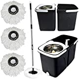 Best Spin Mops - Gr8 Home Black Space Saving 360° Dual Duo Review