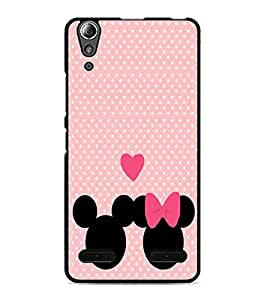 PrintDhaba Mickey and Minnie D-2237 Back Case Cover for LENOVO A6000 PLUS (Multi-Coloured)