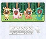 Tovaglietta per tappetino da toeletta in gomma naturale con stampa 3D HD e tappetino per mouse in gomma naturale (60 cm x 30 cm)