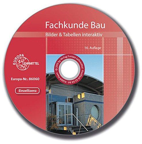 Fachkunde Bau Bilder & Tabellen interaktiv: CD, Einzellizenz