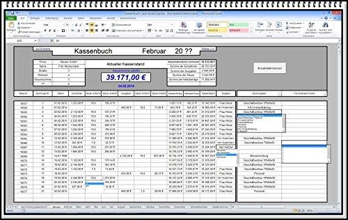 Digitales elektronisches Kassenbuch Kassenabrechnung Geschäftsbuch Kassenbericht Einnahmen / Ausgaben ohne Papier