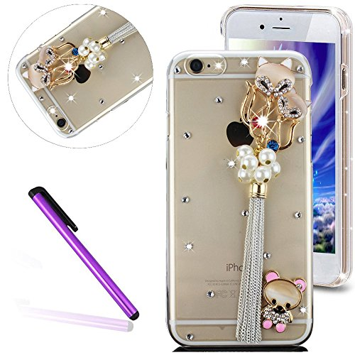 iPhone 6S Plus Coque Bling Bling,iPhone 6S Plus Coque Antichoc,iPhone 6S Plus Coque Fille,iPhone 6S Plus Coque Femme,EMAXELERS iPhone 6S Plus Coque Diamant Hard Etui,iPhone 6S Plus Coque Dual Layer Pl Diamond PC Series 23