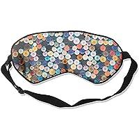 Eye Mask Eyeshade Colorful Buttons Sleep Mask Blindfold Eyepatch Adjustable Head Strap preisvergleich bei billige-tabletten.eu