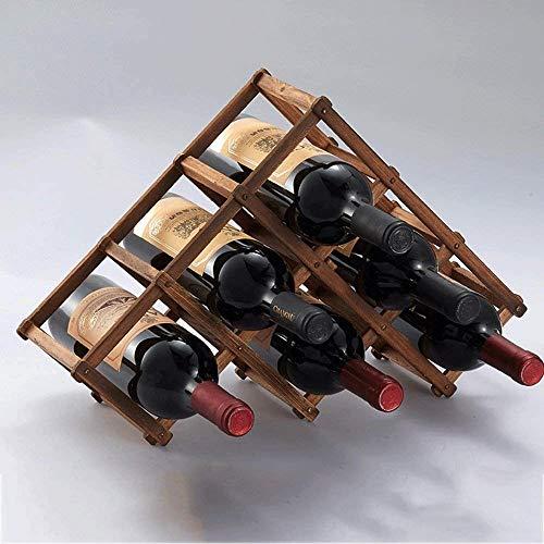 WCJ Wein und Rotwein Verkaufsregal aus Massivholz Rotwein Auslage kreative Rotweinflasche Auslage europäische Rotwein Auslage