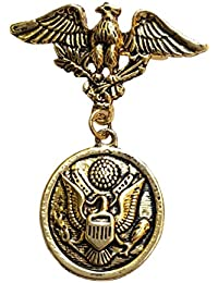 FURE B-fashionable Antic Golden Metal Flying Eagle Brooch for Men and Women