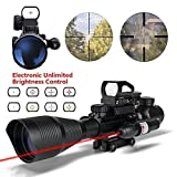 Best 22 Rifle Scopes - HMELOVE Tactical Rifle Scope (3 IN 1) 4-12x50EG Review