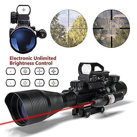 HMELOVE Tactical Rifle Scope (3 IN 1) 4-12x50EG Dual Illuminated