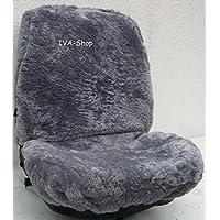 2x LAMMFELL-Sitzbezug aus feiner Wolle mit Farbauswahl (Silber)