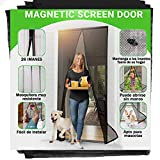 Mosquitera Puerta Magnetica 90 x 210cm - Jellas Cortina Magnética para Puertas,Totalmente Magnética, se Cierra Sola, Evita que los Insectos Entren
