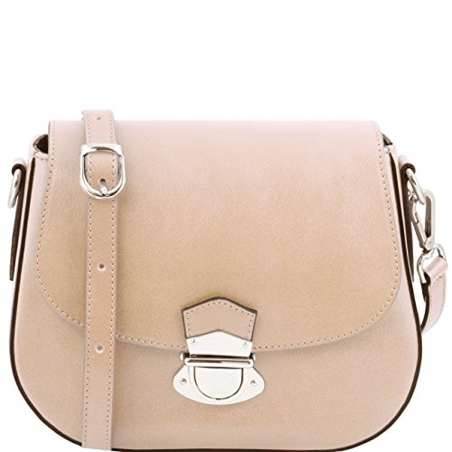 Tuscany Leather TL Neoclassic - Sac bandoulière en cuir Beige Sacs à bandoulière en cuir Beige