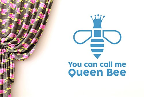 CUT IT OUT You Can Call Me Queen Bee Wand Sticker Kunst Aufkleber - Groß (Höhe 62 cm x Breite 57 cm) blau