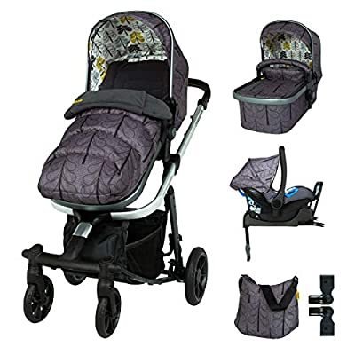 Cosatto Giggle Quad Travel Sytem Fika Forest with Car Seat Base Bag footmuff & Raincover