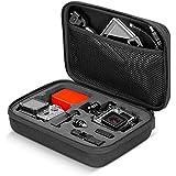 """Neewer negro 8,6""""x 6,5"""" x 2,6/22x 16,5x 6,6cm llevar y estuche portátil a prueba de golpes de viaje con bolsa de pantalla para GoPro Hero 4Sesión/4/3+/3/2/1, SJ4000/5000/6000/7000, Xiaomi Yi cámara y accesorios"""
