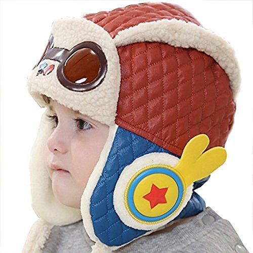 Stofirst Baby Jungen Mädchen Kleinkind Winter Warme Mütze Earflap Beanie Pilot Aviator Hut Kappe Mit Fleece Futter (Jungen Fleece-pilot)