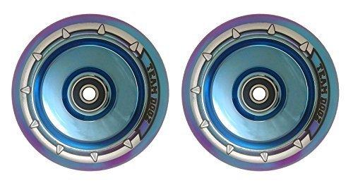 Morado O Azul Core con Negro Poliuretano Individual Ruedas o un par Team Dogz Esc/úter Hueco Core 110mm LLANTA DE ALEACI/ÓN//Ruedas Galaxia Rojo UFO