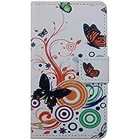 TIODIO® 3 en 1 Coque PU Cuir Etui pour Samsung Galaxy A3 2016 Pochette Housse de Protection Stand Wallet Coque Housse Case Fente Carte Encastrée, Stylus et chiffon de nettoyage inclus, A08