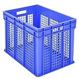 BITO–1.285Euro Container BN, stapelbar mit Wände Größe perforiert blau 41, 5cm x 60cm x 40cm