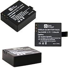 3x Tre Batterie Per Eken H9R / H9 | PYRUS | Thieye i60e 4K / i30 | Neocam Pro | Excelvan Trois-Couleur Q5 | SJ5000 Plus | PHONECT ELE | Flylinktech SO50 | Gearmax W8 - DURAGADGET