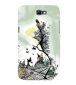 HiFi Designer Phone Back Case Cover Samsung Galaxy Note 2 :: Samsung Galaxy Note Ii N7100 ( Beautiful Birds Art )