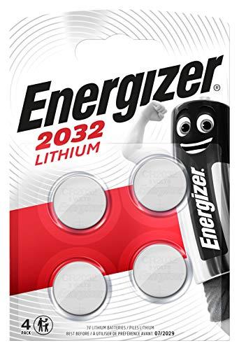 Piles bouton au lithium Energizer 2032, pack de 4