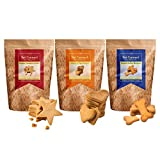 #9: Hand-Baked Gluten Free Dog Biscuits-Peanut Butter+Ginger-Cinnamon+Honey-Egg (Pack Of Three)