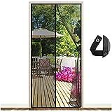 EGNBU Magnetisch vliegengaas, deur, magnetisch gordijn, vliegengordijn, muggennet voor balkondeur, kelderdeur en terrasdeur,