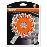 OSRAM LEDguardian ROAD FLARE, LED-Notfall-Warnlicht, Taschenleuchte mit 4 weißen und 12 orangen LEDs als Warn-Blinklicht, 3 verschiedene Modi, LEDSL302, Blister (1 Stück)