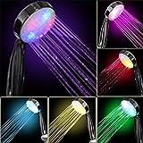 Actoor LED Doccetta Massaggio, Materiali ABS di Alta qualità 7 Colori Che Cambiano Le Luci Perle di Lampada Morbida Risparmio Idrico Pressurizzato