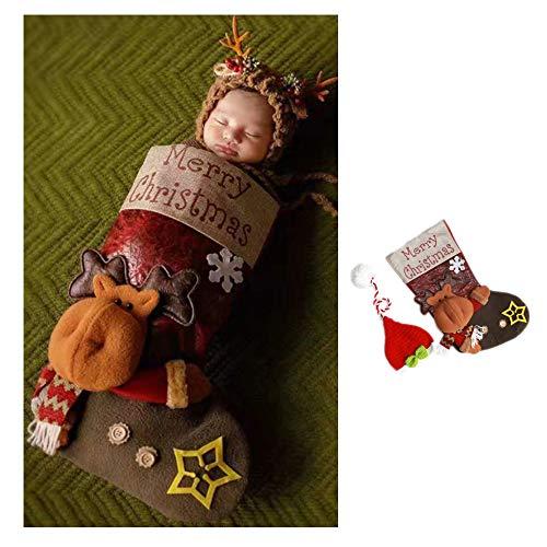 Kostüm Baby Deer - NROCF Baby Weihnachten Fotografie Requisiten, Baby Fotografie Socken Schlafsäcke, Kleidung Für Männer Und Frauen,Deer