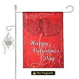 Howaf Buon San Valentino Decorazione Cuore Bandiera del Giardino, 12 x 18 Pollice San Valentino Casa Esterni Cortile Bandiera Double Sided, Poliestere, Durevole