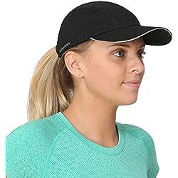 Gorra deportiva TrailHeads para mujeres, 4 colores, mujer, negro