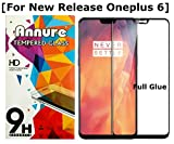 #9: Annure® 3D [Shatterproof] Full Glue Tempered Glass Screen Protector for Oneplus 6/One Plus 6 - Black