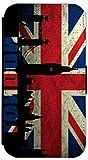 FioMi Flip Cover Hülle Samsung Galaxy S3 Mini Motiv 303 England Flagge London Rot Blau Schwarz Handy Tasche Etui Schutzhülle Flipcover Case Wallet Bookflip Buchflip (303)