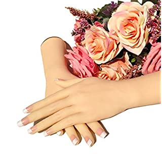 Ajusen Lifelike Female hand Mannequin Dummy Realistic Silicone hand Female Displays Model Girls Women Hands for Jewelry Display