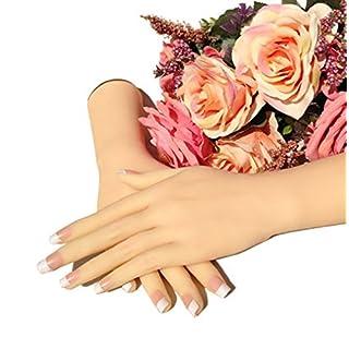 Ajusen lebensechte weibliche Hand Schaufensterpuppe Dummy realistische Silikon Hand weibliche zeigt Modell Mädchen Frauen Hände für Schmuck Display