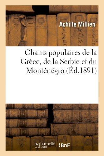 Chants populaires de la Grèce, de la Se...